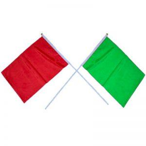 ธงโบกรถเขียวแดง